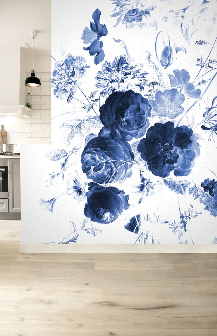Royal blue and black bedroom - Choose Your Favorite Royal Blue Flower Photo Wallpaper With 6 Sheets For Your Bedroom Kitchen