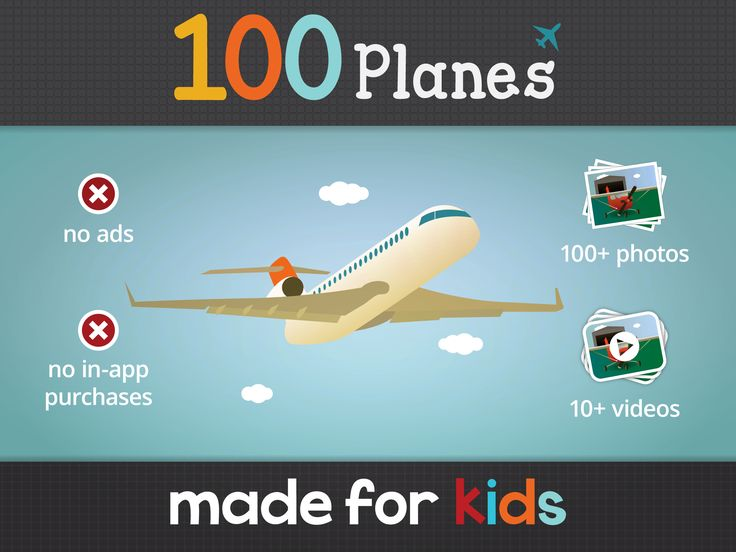 Featured App: 100 Planes. Photos & Videos — let your little one's imagination take off with this best plane app for kids!