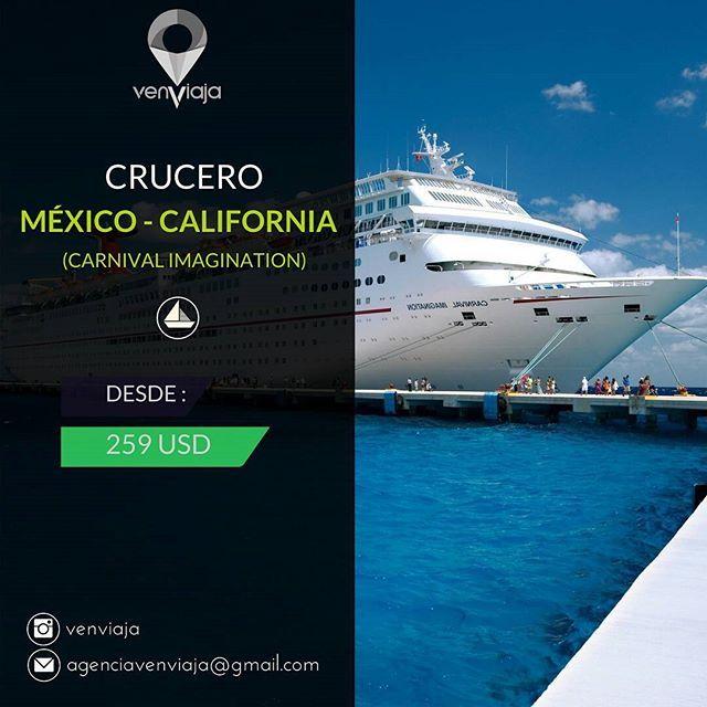 ¡Mes de abril de crucero! Vive 3 noches y 4 días en el Crucero de Carnival Imagination. Vísita Long Beach, Santa Catalina y Ensenada con todo incluido.  Asesoría: (+58) 416-5924297 Consulta│Reservaciones: agenciavenviaja@gmail.com  Tarifas sujetas a cambio y disponibilidad.  #VenViaja #Iniciatuaventura #crucero #Paqueteturistico #Tour #Agenciadeviajes #Agenciadeturismo #Viajes#Turismo #Vacaciones #Travel #carnivalcrusie #crusie #Enjoy#Adventure#Holidays #fun #Travel #Tourism…