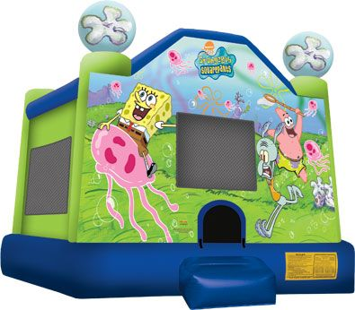 Our new Sponge Bob bounce house!!  Call Taylor Rental in Plattsburgh or Saranac Lake to reserve, 518-324-5100 or 518-891-9300!