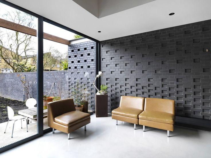 Black Engineering Bricks. Hackney Townhouse / ZCD Architects