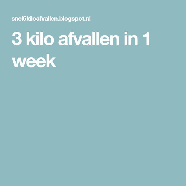 3 kilo afvallen in 1 week