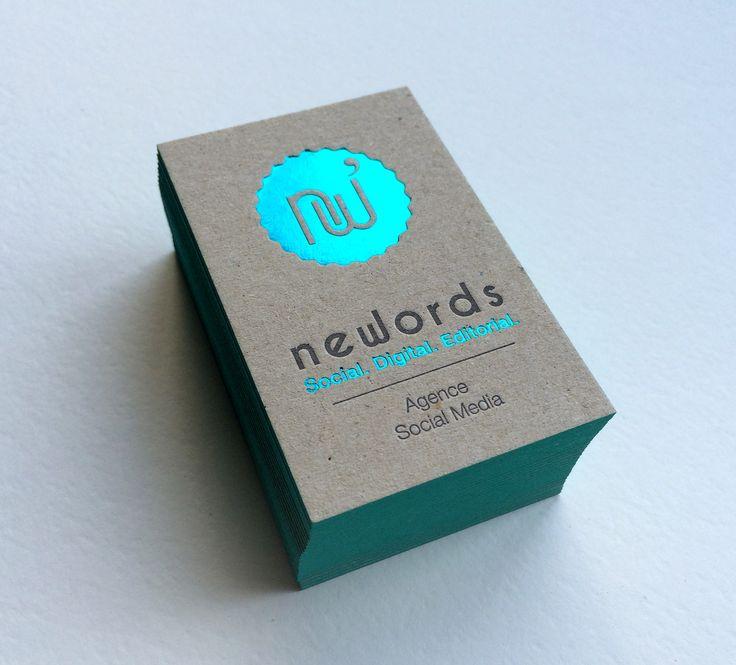 Print : Badcass - Design : Newords - Carte de visite en letterpress - #débossage #marquageàchaud
