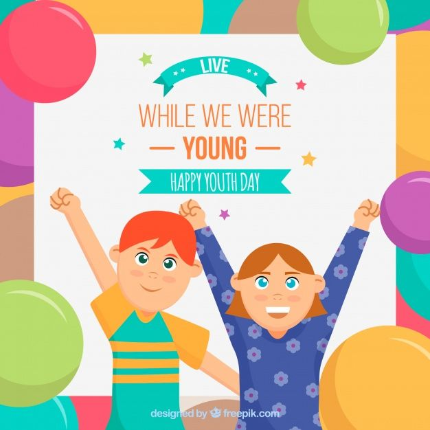 Background of friends celebrating the youth day #Free #Vector  #Background #World #Celebration #Event #Friends #Backdrop #Balloons #Future #Celebrate #Growth #Friendship #Youth #Young #Festive #International #Day #Society #Opportunity #Nice #Celebrating #Participation #August #Inclusion #Twelve