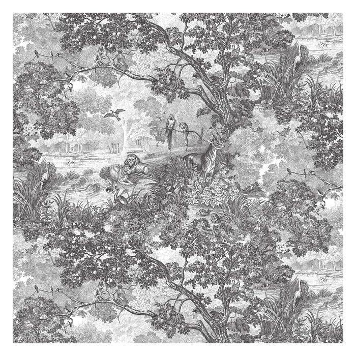 Jungle Toile Peel And Stick Wallpaper Toile Wallpaper Jungle Wallpaper Vinyl Wallpaper