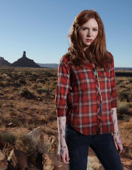 Amy Pond. I'm thinking of this for Halloween. I would just need to get a red button up and a sharpie