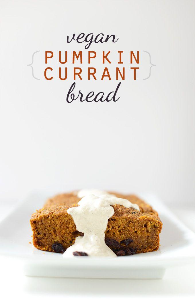 Vegan Pumpkin Currant Bread | minimalistbaker.com recipes #minimalistbaker