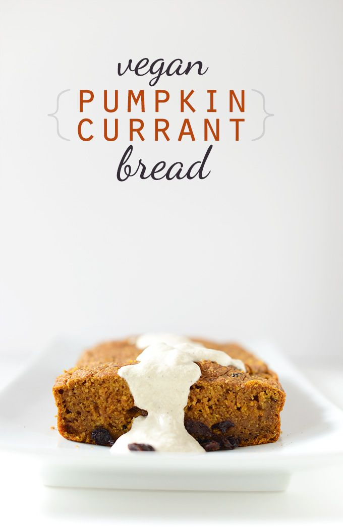 Vegan Pumpkin Currant Bread | minimalistbaker.com recipes