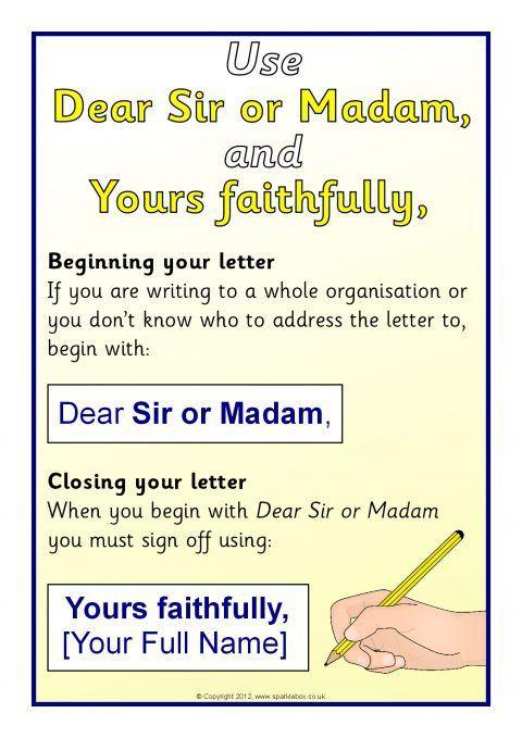 Writing a Formal Letter Visual Aids (SB7947) - SparkleBox