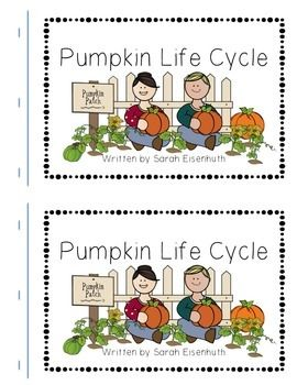 This FREE download consists of a Pumpkin Life Cycle predictable text book…
