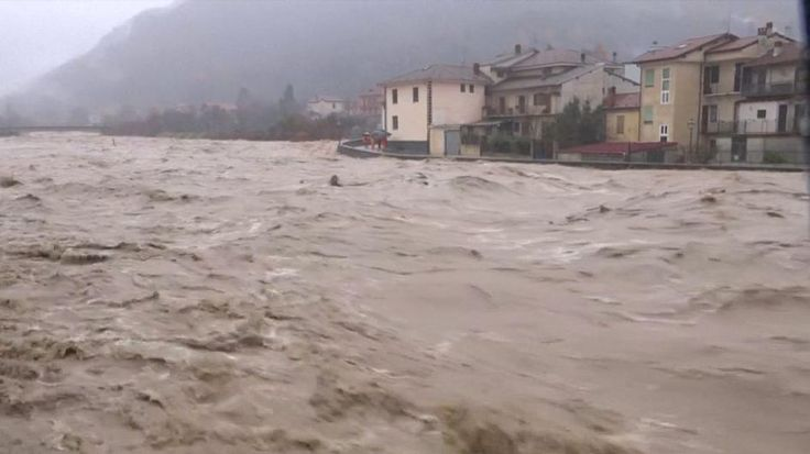 El norte de Italia, bajo el agua