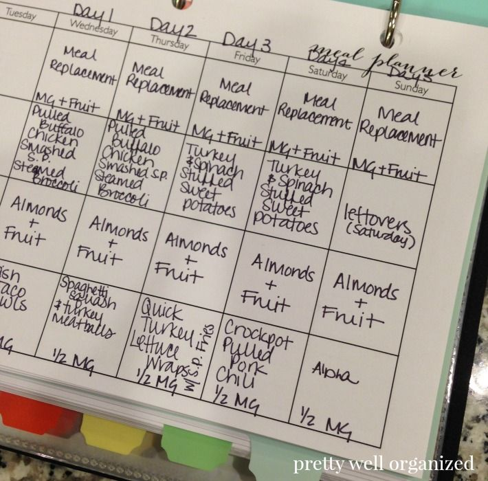 24 Day Challenge Meal Plan