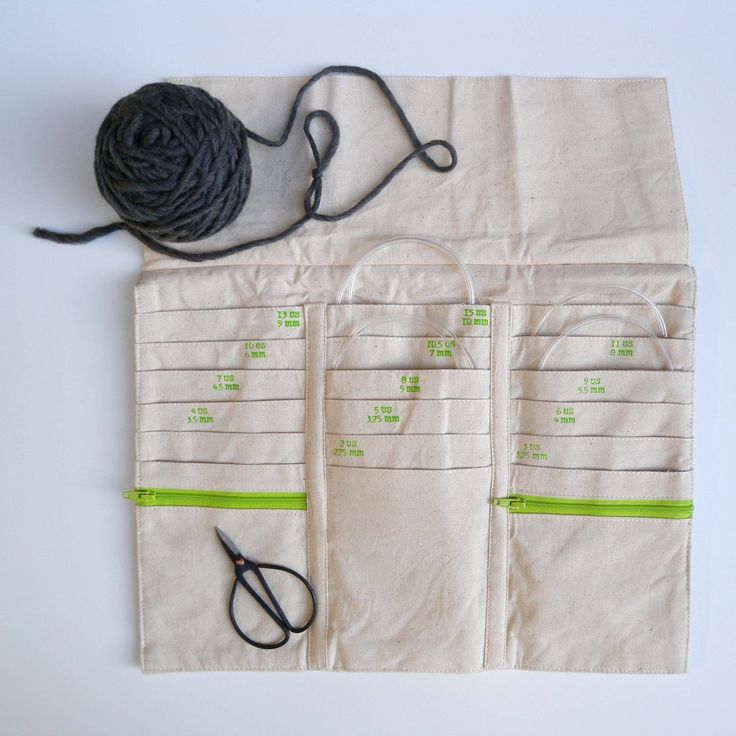 This tri-fold case will keep all your circular knitting needles organized and easily accessible. Made from beautiful, natural cotton, this case contains 18 pock - Knitting Journal