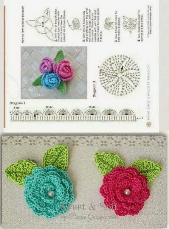 375 best flores a crochet images on Pinterest | Crocheted flowers ...