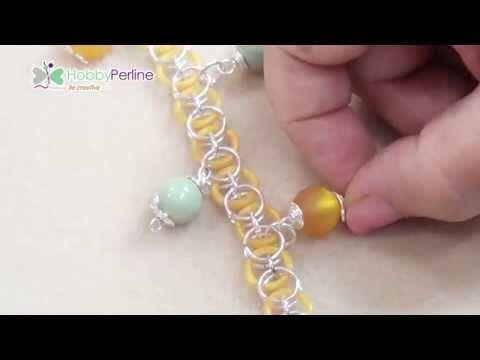 Bracciale Chainmaille con anellini in silicone - HobbyPerline.com - YouTube