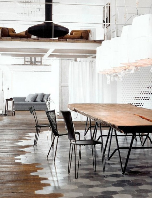 Love the idea of this tiled floor