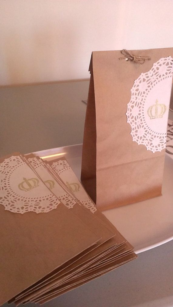 Shabby chic party favor bags birthday doilies by CRYSTALchicDECOR, $0.50