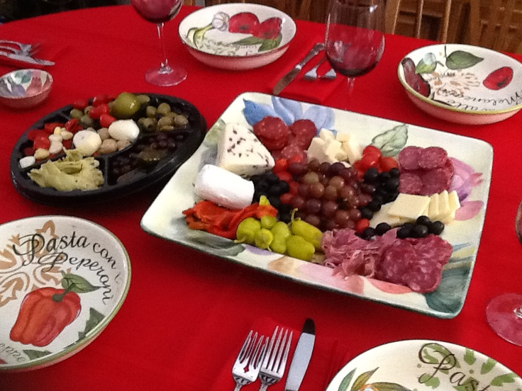 Antipasto Platter Italian Table Setting