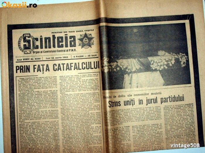 MOARTEA LUI GHEORGHE GHEORGHIU DEJ - SCINTEIA / SCANTEIA - 22 MARTIE 1965