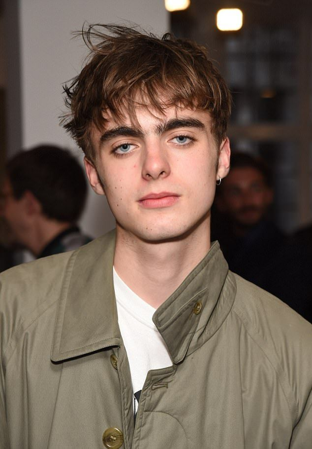 Golden boy: He may only be 17, but Lennon Gallagher has already caused a stir in the modelling world - and has been announced as the new face of Topman