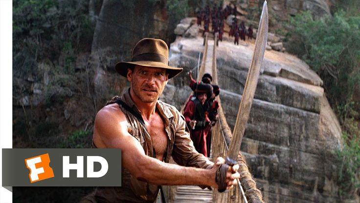 Indiana Jones and the Temple of Doom (9/10) Movie CLIP - The Rope Bridge...