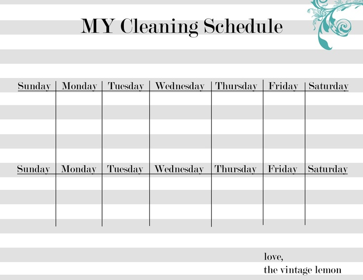 130 best ✓ LIFE more organized images on Pinterest Cleaning - sample production schedule template