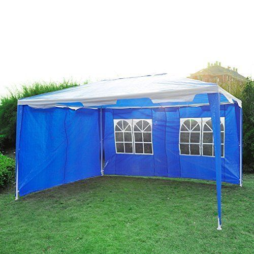 CAMPING GARDEN GAZEBO TENT BLUE MARQUEE FAMILY PARTY HEAVY DUTY FREE UK DELIVERY