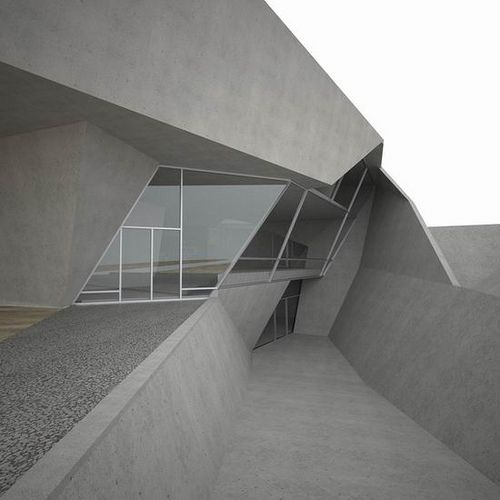 Folded Concrete Form in Architecture