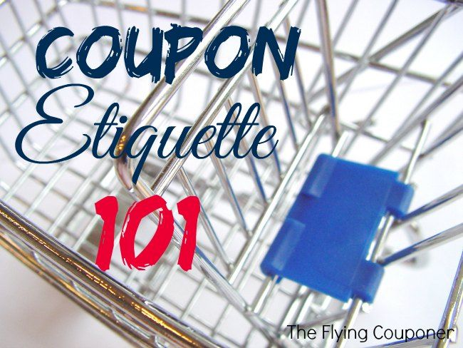 Coupon Etiquette 101. Learn how to coupon in Canada with The Flying Couponer. Couponing and Extreme Couponing tips.