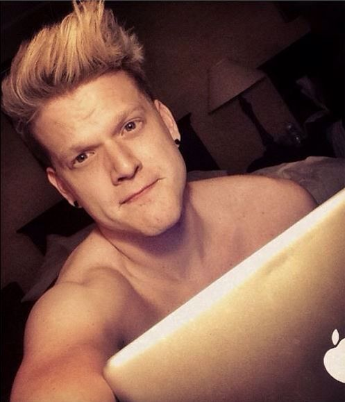 Scott shirtless