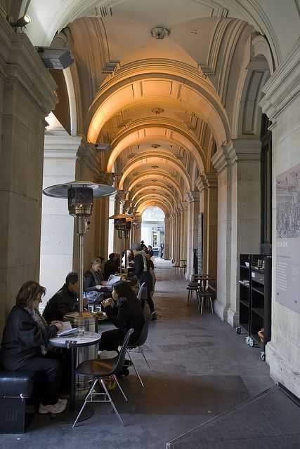 Saturday afternoon. Step 1: shop your socks off. Step 2: a cappuccino at the old GPO Building #Melbourne