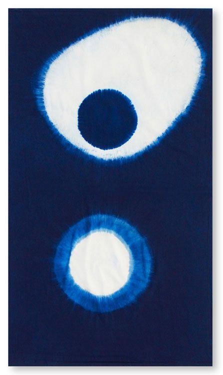 ~ shibori + indigo ~ / omg i love how experimental this looks!!