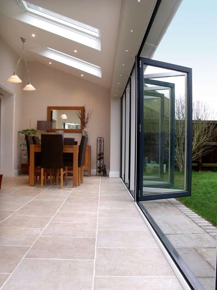 Bi-fold, Sliding & French Doors | Homebuilding & Renovating Great for making the most of small spaces and letting the outdoor in! If you have a dining table on wheels, it is useful for alfresco eating.