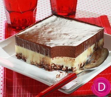 Γλύκισμα ψυγείου με δημητριακά και διπλή κρέμα σοκολάτας | Dina Nikolaou