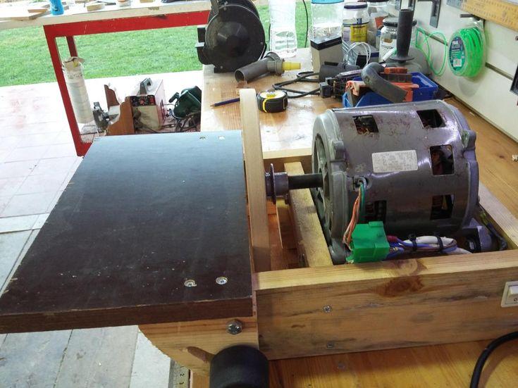 Disk Sander by rep - disk sander from motor of old washing machine.