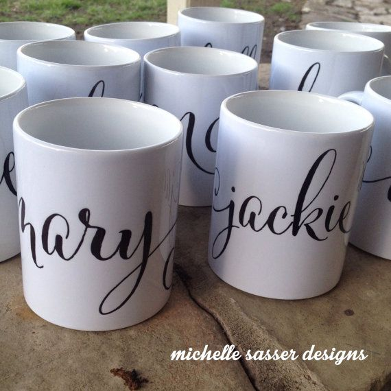 Coffee Mug Personalized by michellesasser on Etsy