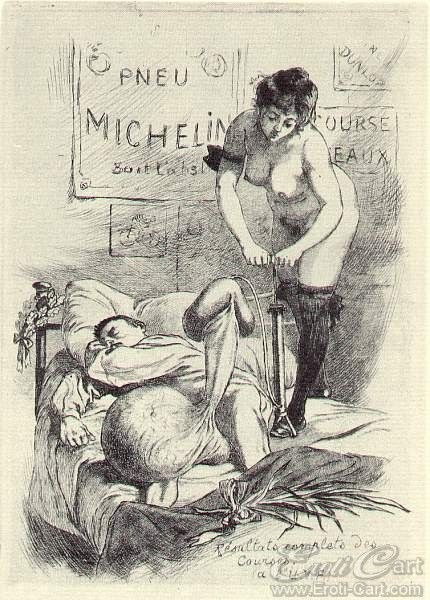 "La Grande Danse Macabre des Vifs - 34 : Erotic illustration by Martin Van Maele from ""La Grande Danse Macabre des Vifs"" first published in 1905."