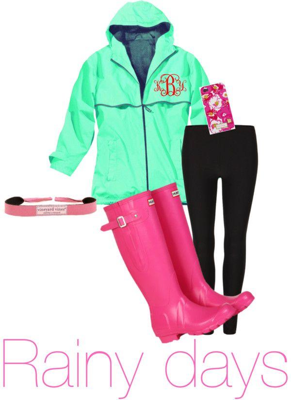 innovative preppy rainy day outfit 13