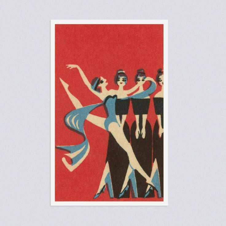Moscow State Music Hall, 1968. Matchbox label.