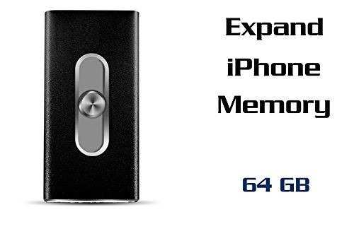 128GB  USB Flash Drive With Lighting Connector 3 In 1 Flash Drive For iPhone 55s 66s 6plus iPad IOS 80 or above and Andrews Device and PC Memory Stick  MK 3151 Black 64GB * Read more reviews of the product by visiting the link on the image.