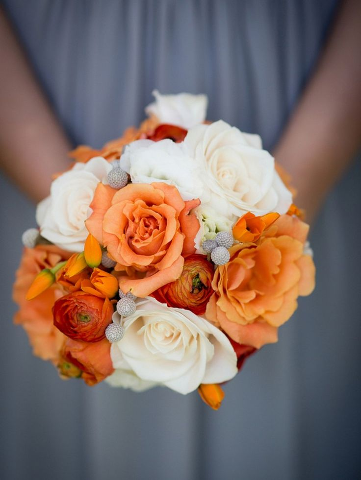 Orange and Grey Wedding by Portrait Design by Shanti - KnotsVilla: