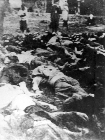 Boryslaw, Poland, Bodies of prisoners killed by the NKVD, 1941.
