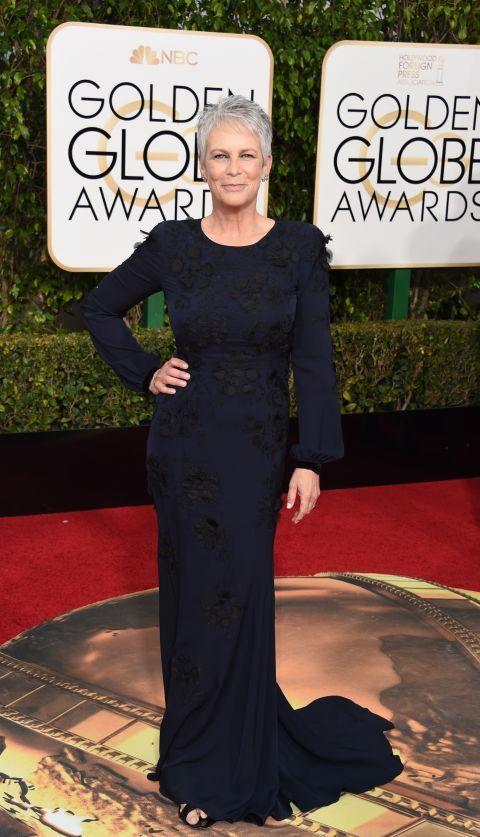 Golden Globes Fashion 2016 - Golden Globes Celebrity Dresses - JAMIE LEE CURTIS