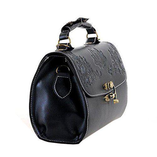 D9Q Damen PU Leder Handtasche Lady Crossbody Tote Vintage Messenger Umhängetasche Versand mit Tracking Nummer und ein kostenloses Geschenk