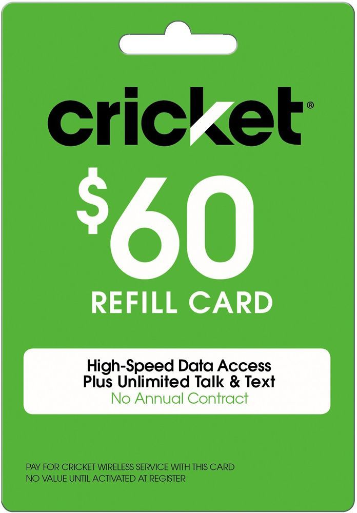 Free Cricket Wireless Reload Codes Cricket Wireless Cricket Phones Phone Cards