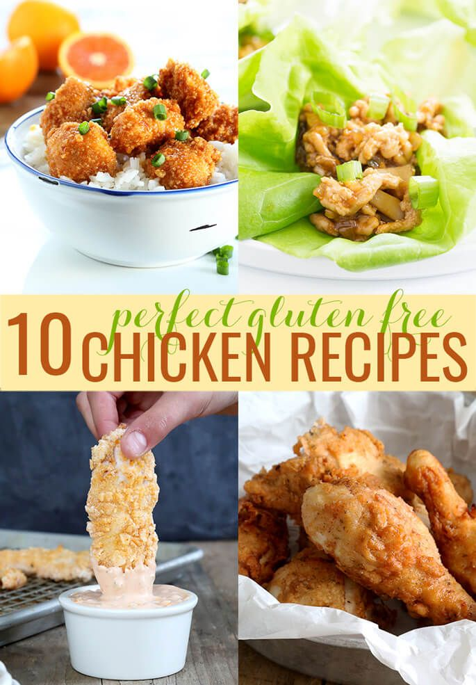 These 10 easy gluten free chicken recipes are the very best in everything from baked chicken casseroles and chicken fingers to take-out…