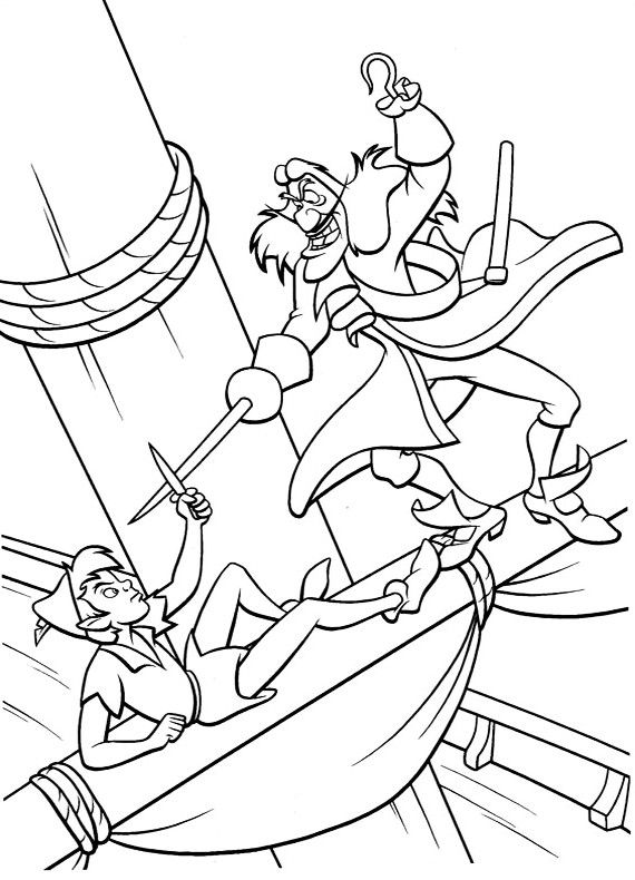 disney peter pan coloring pages free | 28 best images about coloring pages 14 (peter pan) on ...