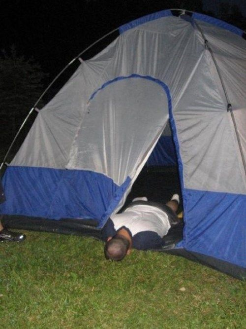 At Least He Made it to the Tent