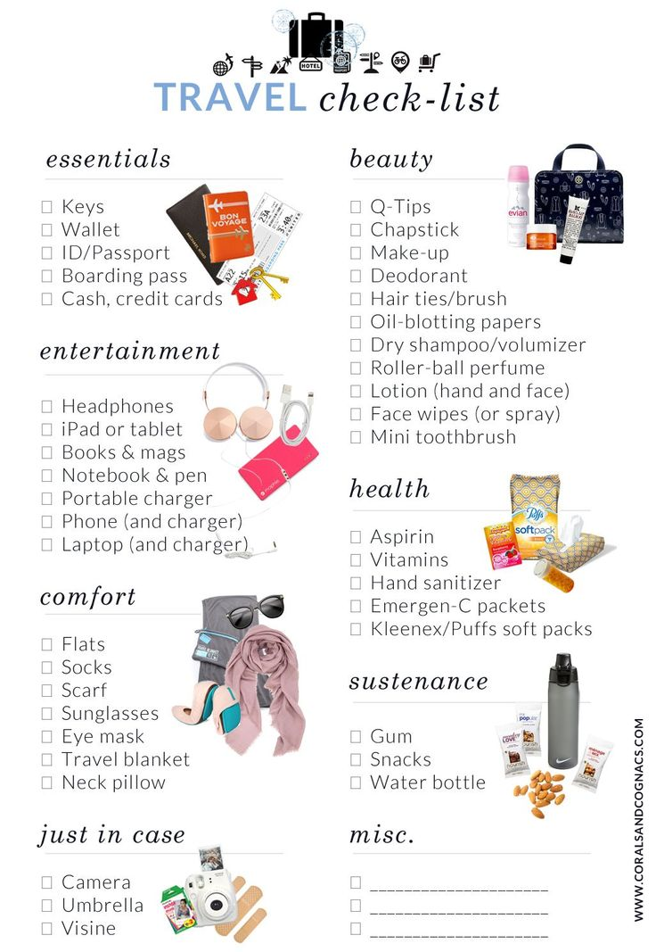 Packing just got ten times easier with this checklist