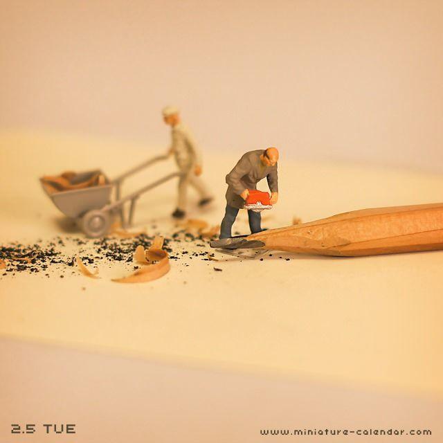 Pencil http://miniature-calendar.com/130205/